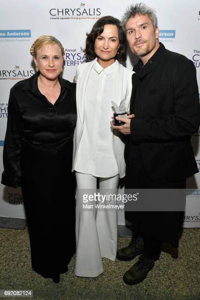 Actor Patricia Arquette Honorees Rosetta Getty and Balthazar Gettyat the 16th Annual Chrysalis Butterfly Ball on June 3 2017 in Los Angeles California