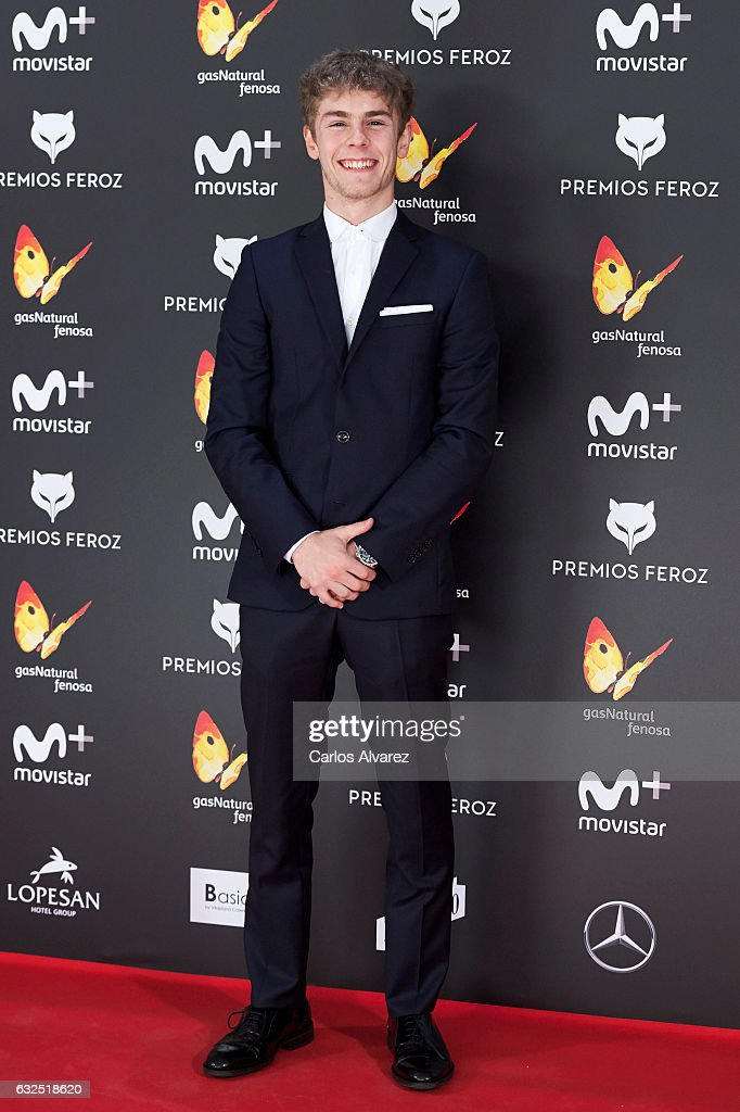 Actor Patrick Criado attends the Feroz cinema awards 2016 at the Duques de Pastrana Palace on January 23, 2017 in Madrid, Spain.