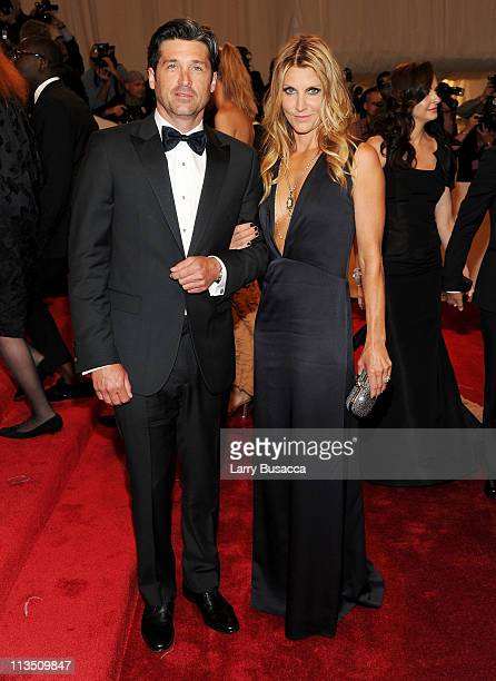 Actor Patrick Dempsey and Jill Fink attend the 'Alexander McQueen Savage Beauty' Costume Institute Gala at The Metropolitan Museum of Art on May 2...