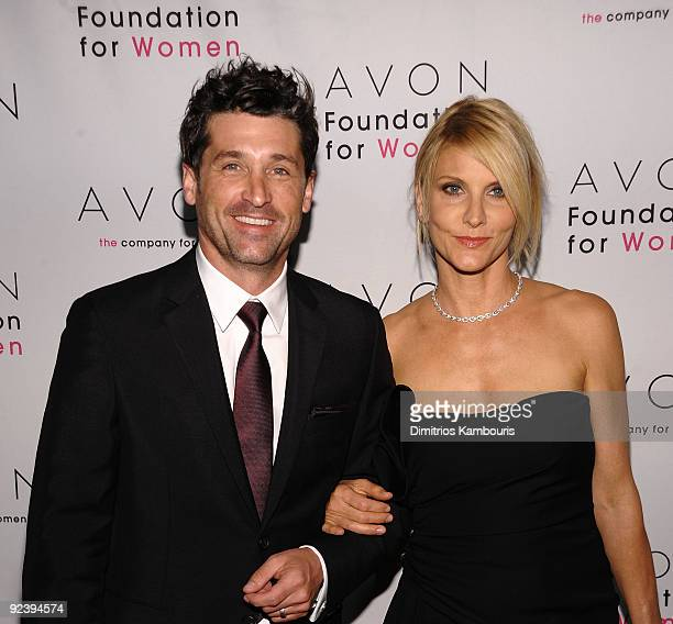 Actor Patrick Dempsey and Jillian Dempsey walk the red carpet during the 'Champions Who Change Women's Lives' celebration at Cipriani 42nd Street on...