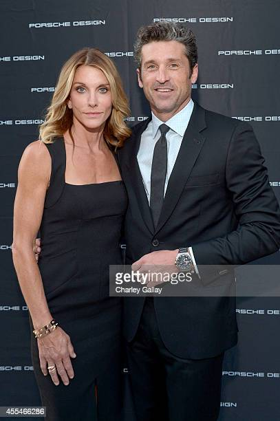 Actor Patrick Dempsey and makeup artist Jillian Dempsey attend the Porsche Design Celebrates Festival of Watches on September 14 2014 in Beverly...
