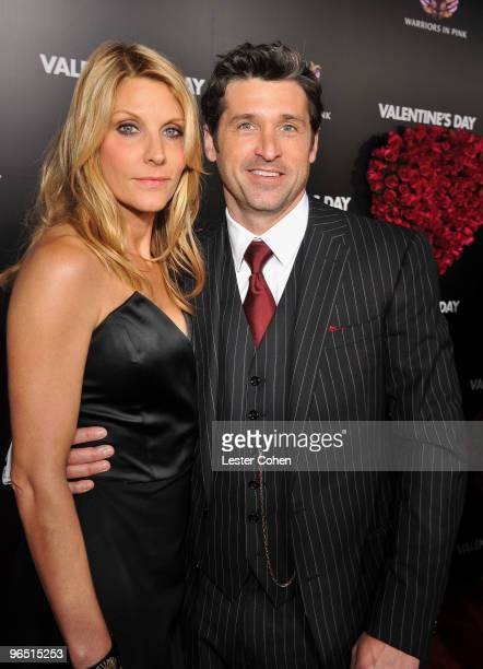 Actor Patrick Dempsey and wife Jill Fink arrive at the 'Valentine's Day' Los Angeles Premiere at Grauman's Chinese Theatre on February 8 2010 in...