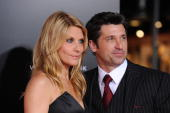 Actor Patrick Dempsey and wife Jillian Dempsey arrive at the premiere of New Line Cinema's 'Valentine's Day' held at Grauman's Chinese Theatre on...