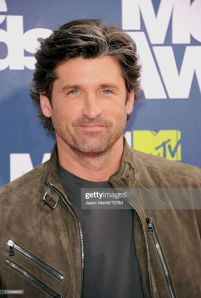 Actor <a gi-track='captionPersonalityLinkClicked' href=/galleries/search?phrase=Patrick+Dempsey&family=editorial&specificpeople=241264 ng-click='$event.stopPropagation()'>Patrick Dempsey</a> arrives at the 2011 MTV Movie Awards at Universal Studios' Gibson Amphitheatre on June 5, 2011 in Universal City, California.