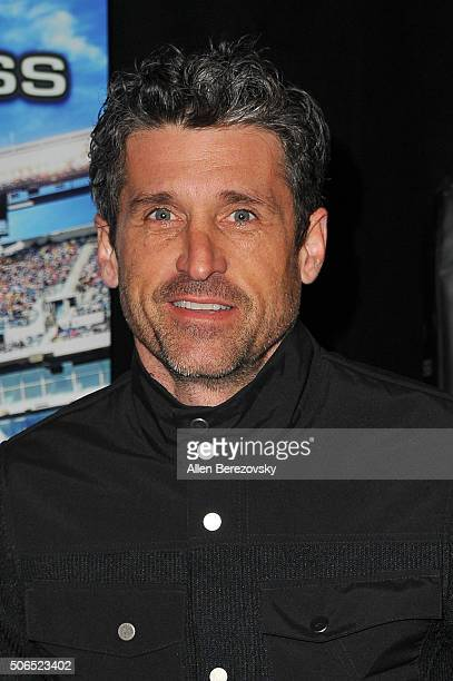 Actor Patrick Dempsey attends Monster Energy Supercross at Angel Stadium of Anaheim on January 23 2016 in Anaheim California