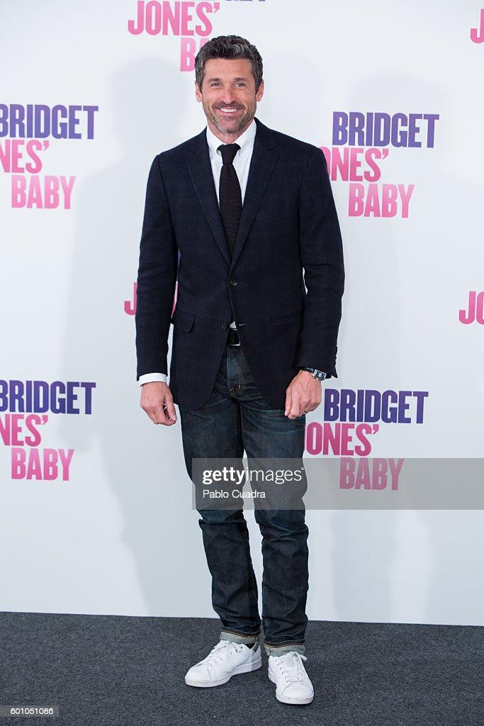 Actor Patrick Dempsey attends the Bridget Jones' Baby photocall at Villamagna Hotel on September 9, 2016 in Madrid, Spain.