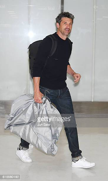 Actor Patrick Dempsey is seen upon arrival at Narita International Airport on October 19 2016 in Narita Japan