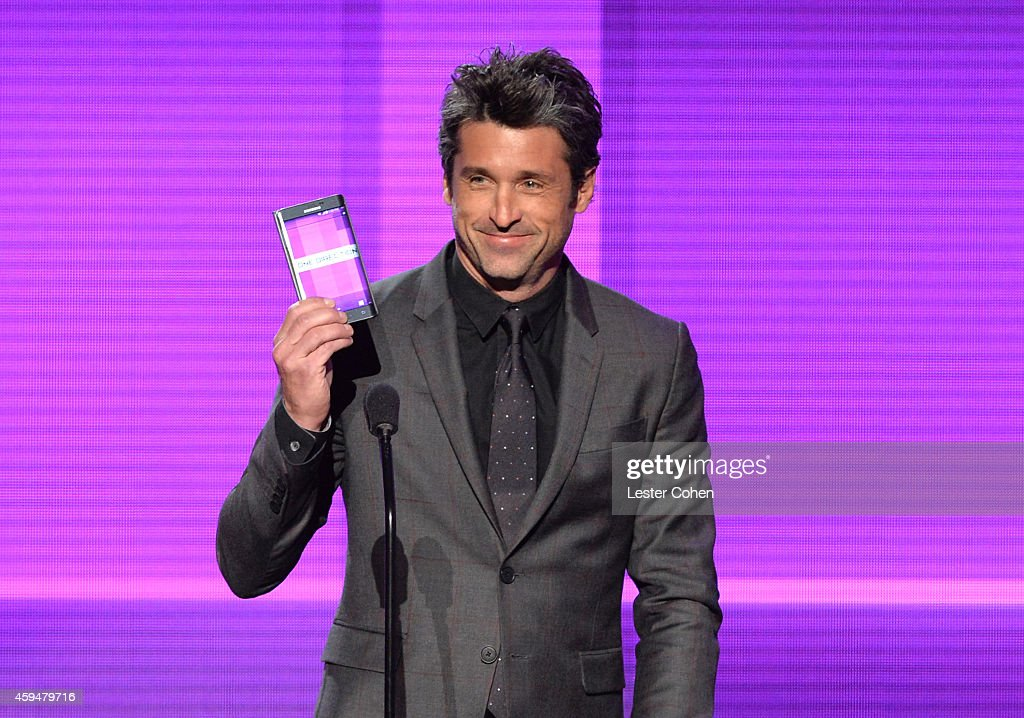 actor patrick dempsey speaks onstage at the 2014 american music awards