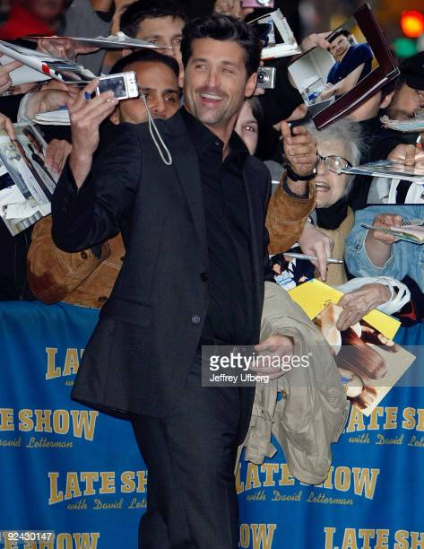 Actor Patrick Dempsey visits 'Late Show With David Letterman' at the Ed Sullivan Theater on October 28 2009 in New York City