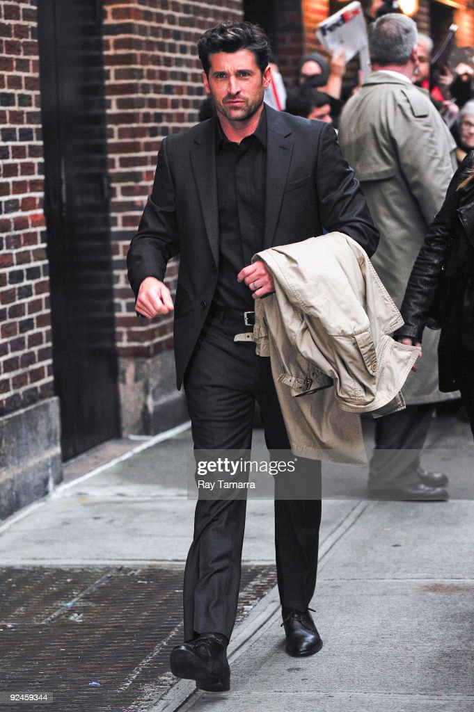 Actor <a gi-track='captionPersonalityLinkClicked' href=/galleries/search?phrase=Patrick+Dempsey&family=editorial&specificpeople=241264 ng-click='$event.stopPropagation()'>Patrick Dempsey</a> visits the 'Late Show With David Letterman' at the Ed Sullivan Theater on October 28, 2009 in New York City.