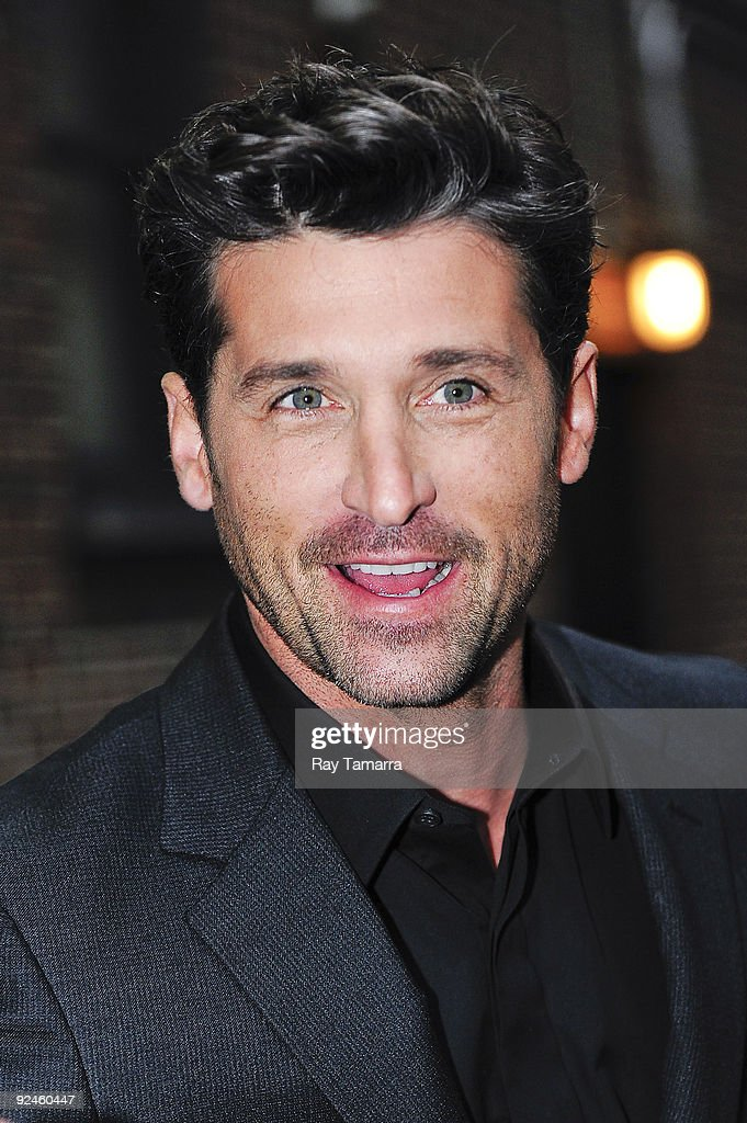 Actor Patrick Dempsey visits the 'Late Show With David Letterman' at the Ed Sullivan Theater on October 28, 2009 in New York City.
