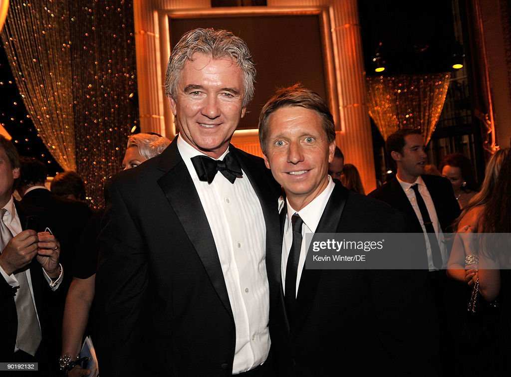 Actor Patrick Duffy (L) and executive producer Bradley Bell pose backstage at the 36th Annual Daytime Emmy Awards at The Orpheum Theatre on August 30, 2009 in Los Angeles, California.