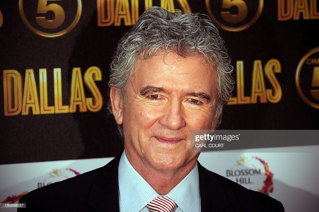 US actor Patrick Duffy arrives on the red carpet to attend the launch of the new 10part series of US television show 'Dallas' in London on August 21...