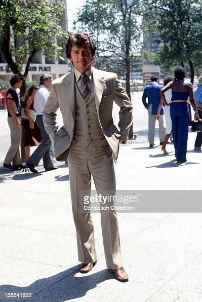 Actor Patrick Duffy poses for a portrait wearing a 3 piece suit for a portrait session in circa 1980 in Los Angeles California