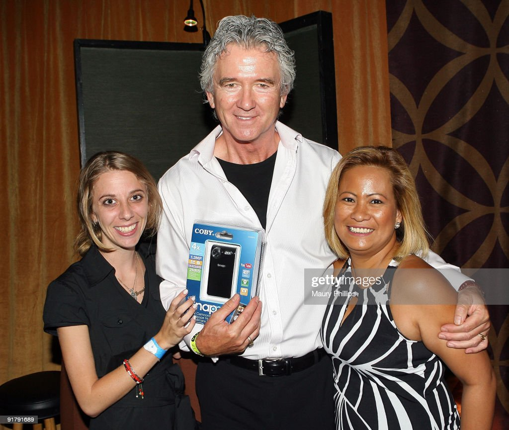 Actor <a gi-track='captionPersonalityLinkClicked' href=/galleries/search?phrase=Patrick+Duffy+-+Actor&family=editorial&specificpeople=224536 ng-click='$event.stopPropagation()'>Patrick Duffy</a> (C) poses in the Daytime Emmy official gift lounge produced by On 3 Productions held at The Orpheum Theatre on August 29, 2009 in Los Angeles, California.