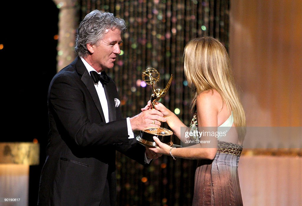 Actor Patrick Duffy presents actress Susan Haskell the Emmy for Lead Actress in a Drama Series during the 36th Annual Daytime Emmy Awards at The Orpheum Theatre on August 30, 2009 in Los Angeles, California.
