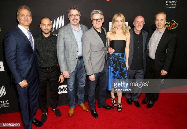 Actor Patrick Fabian actor Michael Mando executive producer Vince Gilligan executive producer Peter Gould actress Rhea Seehorn actor Jonathan Banks...