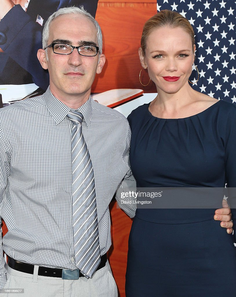 Actor Patrick Fischler (L) and wife actress Lauren Bowles attend the premiere of HBO's 'VEEP' Season 2 at Paramount Studios on April 9, 2013 in Hollywood, California.