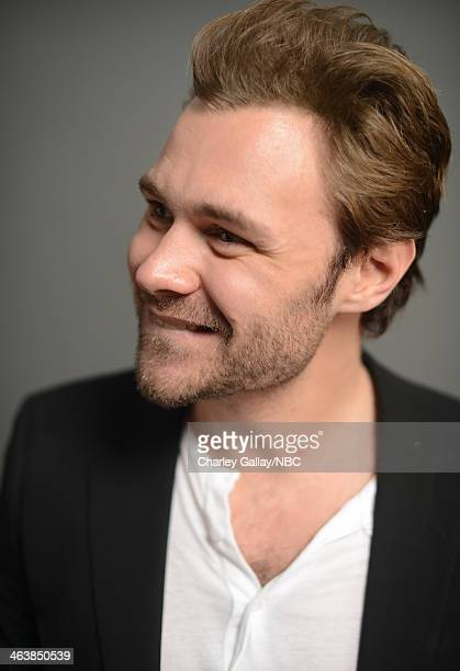 Actor Patrick Fleuger attends the 2014 NBCUniversal TCA Winter Press Tour Portraits at Langham Hotel on January 19 2014 in Pasadena California