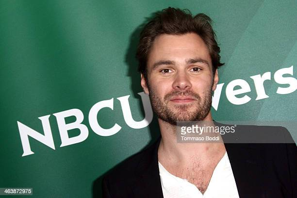 Actor Patrick Flueger attends the NBC/Universal 2014 TCA Winter Press Tour held at The Langham Huntington Hotel and Spa on January 19 2014 in...