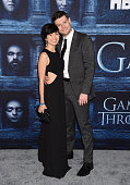 Actor Patrick Fugit and guest arrive at the premiere of HBO's 'Game of Thrones' Season 6 at the TCL Chinese Theatre on April 10 2016 in Hollywood...
