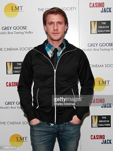 Actor Patrick Heusinger attends The Cinema Society and the Creative Coalition screening of 'Casino Jack' at the Bryant Park Hotel on December 16 2010...