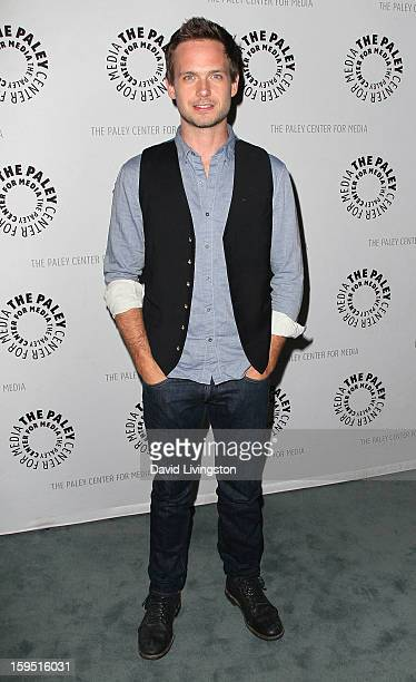 Actor Patrick J Adams attends The Paley Center for Media's presentation of An Evening With 'Suits' at The Paley Center for Media on January 14 2013...