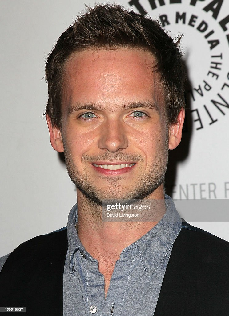Actor <a gi-track='captionPersonalityLinkClicked' href=/galleries/search?phrase=Patrick+J.+Adams&family=editorial&specificpeople=4195512 ng-click='$event.stopPropagation()'>Patrick J. Adams</a> attends The Paley Center for Media's presentation of An Evening With 'Suits' at The Paley Center for Media on January 14, 2013 in Beverly Hills, California.