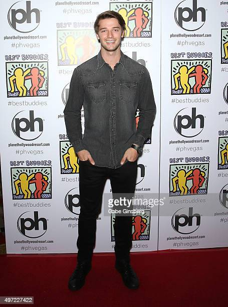 Actor Patrick Schwarzenegger attends the All In for Best Buddies celebrity poker tournament at Planet Hollywood Resort Casino on November 14 2015 in...