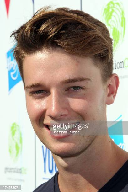 Actor Patrick Schwarzenegger attends Variety's Power of Youth presented by Hasbro Inc and generationOn at Universal Studios Backlot on July 27 2013...