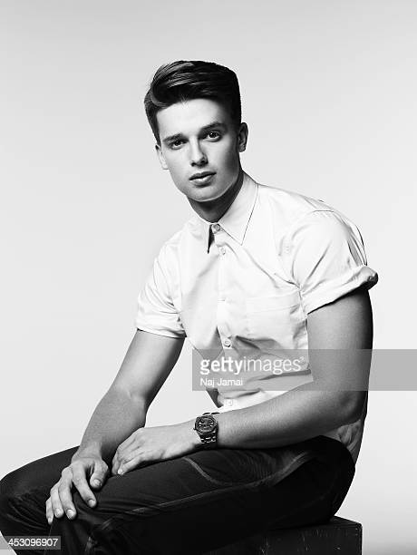 Actor Patrick Schwarzenegger is photographed for Bullett on April 16 2013 in Los Angeles California