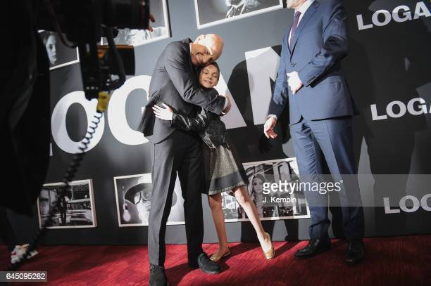 Actor Patrick Stewart and actress Dafne Keen attend the 'Logan' New York special screening at Rose Theater Jazz at Lincoln Center on February 24 2017...