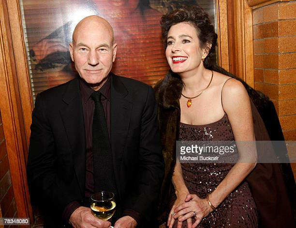 Actor Patrick Stewart and actress Sean Young attends the after party for the Jules Verne Adventure Film Fest and Bladerunner The Final Cut dvd...