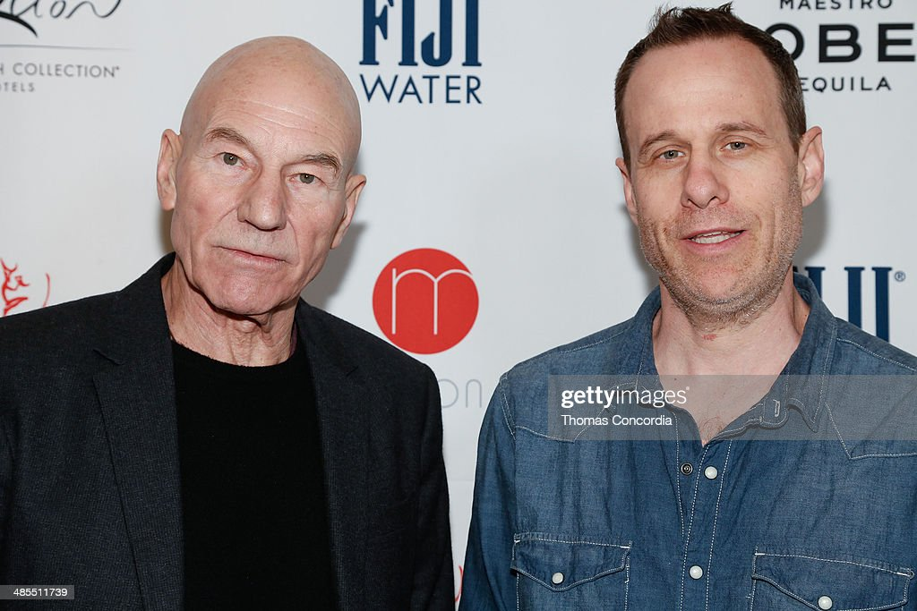 Actor Patrick Stewart and director Stephen Belber attend Tribeca Press Day for the film 'Match' at the Carlton Hotel on April 18, 2014 in New York City.