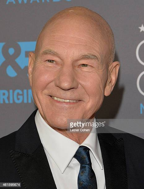 Actor Patrick Stewart attends the 20th annual Critics' Choice Movie Awards at the Hollywood Palladium on January 15 2015 in Los Angeles California
