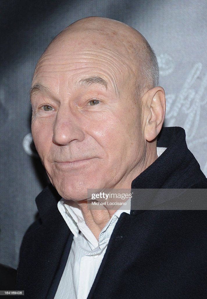 Actor Patrick Stewart attends the 'Breakfast At Tiffany's' Broadway Opening Night at Cort Theatre on March 20, 2013 in New York City.