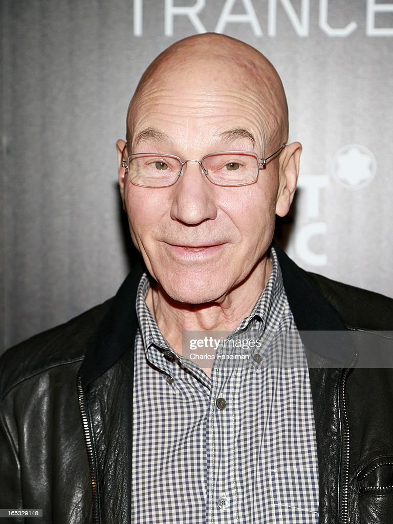 Actor <a gi-track='captionPersonalityLinkClicked' href=/galleries/search?phrase=Patrick+Stewart&family=editorial&specificpeople=203271 ng-click='$event.stopPropagation()'>Patrick Stewart</a> attends The Cinema Society & Montblanc Host Fox Searchlight Pictures' 'Trance' at SVA Theatre on April 2, 2013 in New York City.