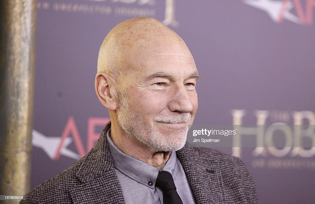 Actor <a gi-track='captionPersonalityLinkClicked' href=/galleries/search?phrase=Patrick+Stewart&family=editorial&specificpeople=203271 ng-click='$event.stopPropagation()'>Patrick Stewart</a> attends 'The Hobbit: An Unexpected Journey' premiere at the Ziegfeld Theater on December 6, 2012 in New York City.