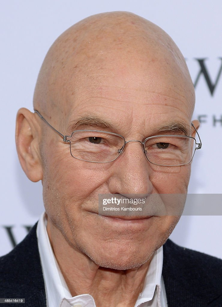 Actor <a gi-track='captionPersonalityLinkClicked' href=/galleries/search?phrase=Patrick+Stewart&family=editorial&specificpeople=203271 ng-click='$event.stopPropagation()'>Patrick Stewart</a> attends the IWC Schaffhausen and Tribeca Film Festival 'For the Love of Cinema' private dinner at Urban Zen on April 17, 2014 in New York City.