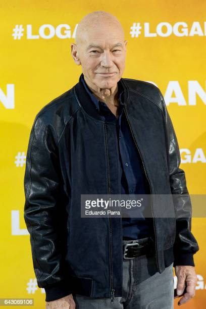 Actor Patrick Stewart attends the 'Logan Su momento ha llegado' photocall at Villamagna hotel on February 20 2017 in Madrid Spain