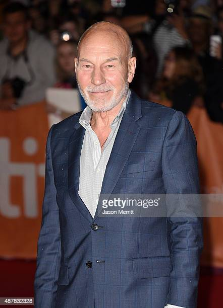 Actor Patrick Stewart attends 'The Martian' premiere during the 2015 Toronto International Film Festival at Roy Thomson Hall on September 11 2015 in...