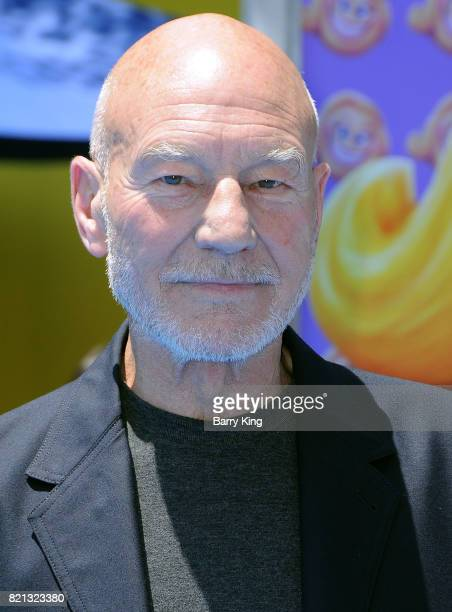 Actor Patrick Stewart attends the premiere of Columbia Pictures and Sony Pictures 'The Emoji Movie' at Regency Village Theatre on July 23 2017 in...