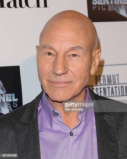 Actor Patrick Stewart attends the premiere of 'Match' at the Laemmle Music Hall on January 14 2015 in Beverly Hills California