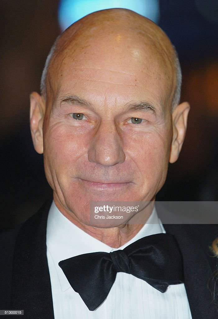 Actor Patrick Stewart attends the Royal Gala Premiere of Lord Andrew Lloyd Webber's new musical 'The Woman In White' at the Palace Theatre, Shaftesbury Avenue on September 13, 2004 in London.