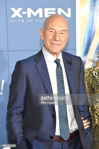 Actor Patrick Stewart attends the 'XMen Days Of Future Past' world premiere at Jacob Javits Center on May 10 2014 in New York City