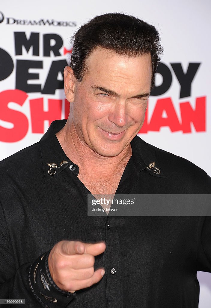 Actor <a gi-track='captionPersonalityLinkClicked' href=/galleries/search?phrase=Patrick+Warburton&family=editorial&specificpeople=228029 ng-click='$event.stopPropagation()'>Patrick Warburton</a> arrives at the 'Mr. Peabody & Sherman' Los Angeles premiere held at the Regency Village Theatre on March 5, 2014 in Westwood, California.