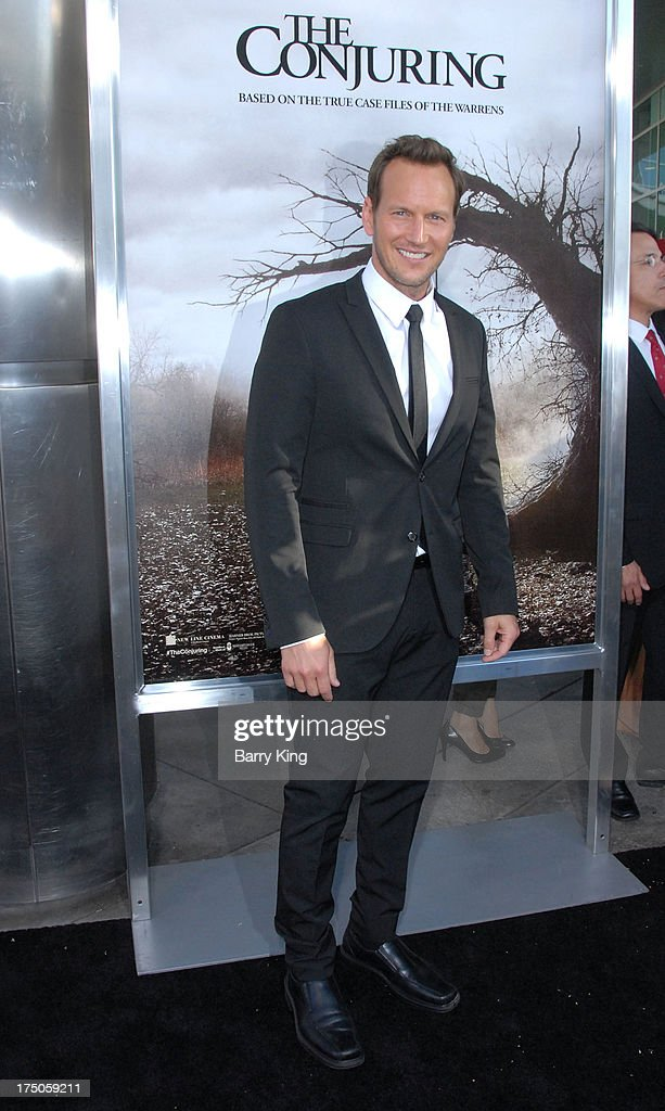 Actor Patrick Wilson arrives at the Los Angeles Premiere 'The Conjuring' at ArcLight Cinemas Cinerama Dome on July 15, 2013 in Hollywood, California.