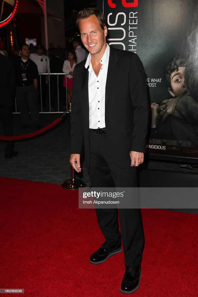 Actor <a gi-track='captionPersonalityLinkClicked' href=/galleries/search?phrase=Patrick+Wilson+-+Actor&family=editorial&specificpeople=14726270 ng-click='$event.stopPropagation()'>Patrick Wilson</a> attends the premiere of FilmDistrict's 'Insidious: Chapter 2' on September 10, 2013 in Universal City, California.