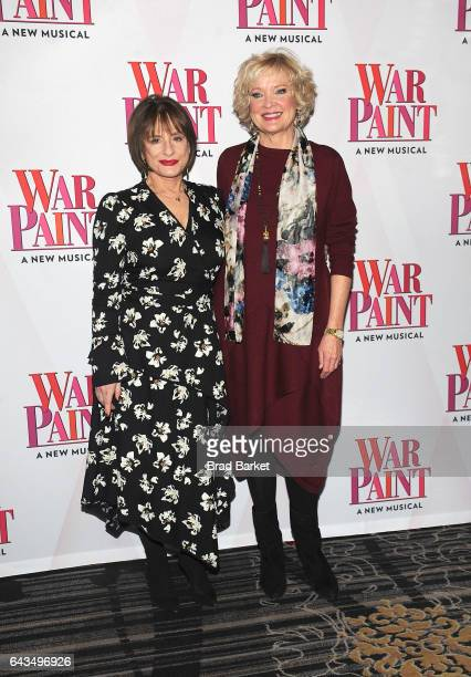 Actor Patti LuPone and Christine Ebersole attend the 'War Paint' Cast Photo Call at Algonquin Hotel on February 21 2017 in New York City