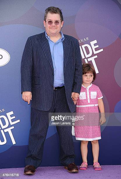 Actor Patton Oswalt and daughter Alice Oswalt attend the premiere of 'Inside Out' at the El Capitan Theatre on June 8 2015 in Hollywood California